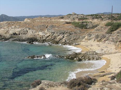 Secluded coves between Sarti and Sykia