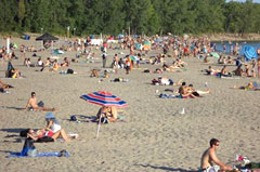 Hanlan's Beach Naturists (1 km)