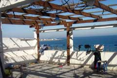 Fully equipped restaurant overlooking the beach at Magazia